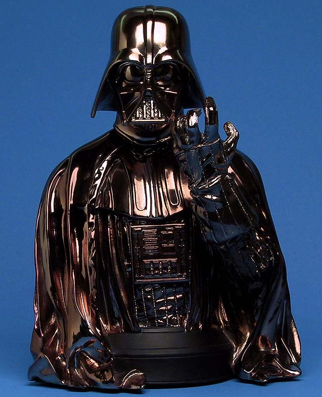 Gentle Giant Darth Vader Exclusive Bust Cold Cast 1:6 Statue, Star Wars ESB [bronze/black chrome]