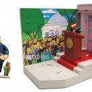The Simpsons Springfield Town Hall w/ Mayor Quimby New Sealed Playset Playmates WOS 25 Anniversary