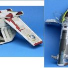 Star Wars Republic Gunship, Jango Fett Slave 1 I | Micro Machines Action Fleet Galoob Replica Models
