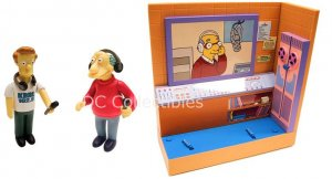 Simpsons Exclusive Interactive Voice Playset WoS KBBL, Marty/Bill Figures