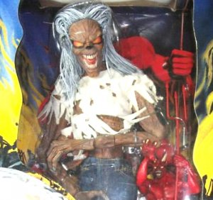 "Iron Maiden 18"" Eddie Figure Asylum Beast Collector Box Set 