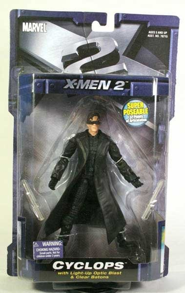 "Marvel X-Men: X2 United - 2003 Toybiz Movie Legends Cyclops 6"" Figure Optic Blast Visor #70727"