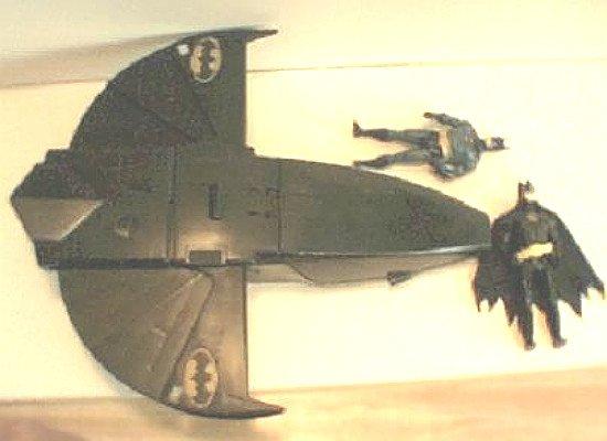 Batman Dark Knight Movie Batwing Jet & Figures Vehicle Lot DC Kenner Super Powers