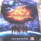 Armageddon (1998) Movie Poster Advance Promo - Bruce Willis, Ben Affleck, Michael Bay, Buscemi