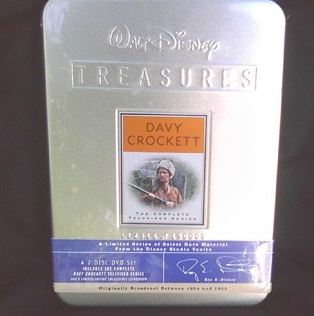 Walt Disney Treasures: Davy Crockett Complete Series (DVD Set) Tin + Art Print 23092 [OOP]