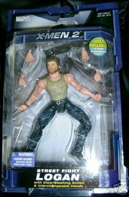 Marvel Street Fighter Logan Wolverine Movie Legends Figure X-Men X2 ToyBiz MOC