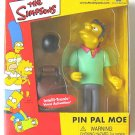 Simpsons Exclusive Pin Pal Moe WOS Figure, Playmates World of Springfield