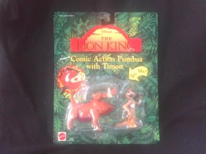 Disney Lion King Collectible Figure Set: Pumbaa & Timon, Vintage Toy Mattel 1994
