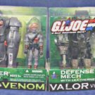 Defense Mech/Leatherneck, Cobra Pulverizer/Ghost | GI Joe 2004 Vehicle Set Valor vs Venom 3 3/4""