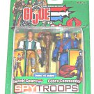 GI Joe 2003 Switch Gears vs Cobra Commander SpyTroops 2 Pack Hasbro MOC