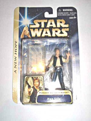 Star Wars Saga ANH 2004 Han Solo Millennium Falcon Pilot Flight Alderaan MOC