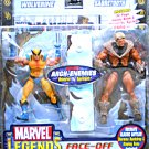 Wolverine/Sabretooth + Comic | Marvel Legends Face Off Series 2 | ToyBiz X-Men 2006