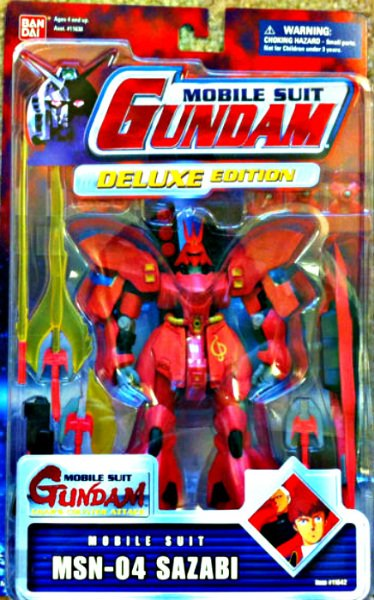 "Gundam Dx msn-04 Sazabi msia 4.5"" Bandai Mobile Suit (Char's Counterattack) [null]"