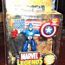 "Captain America Legends Series 1 Gold Foil UK Variant ToyBiz 6"" Avengers 