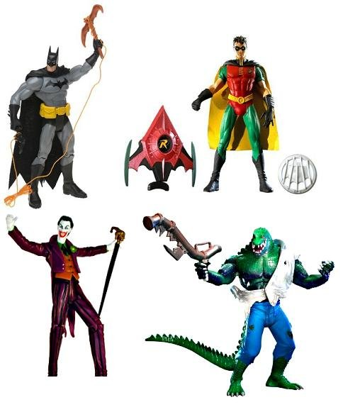 DC Universe Classics Set of 4: Batman Drake Robin Joker Croc Mattel || DC Collectible Action Figures