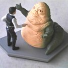 Disney Star Wars Jabba the Hutt and Han Solo Figurine Diorama Statuette