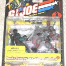 2002 GI Joe 20th Snake Eyes Vs Cobra Storm Shadow v2 repaint variant