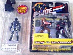GI Joe Bonus 3-Pack: Alley Viper Duke Cobra Commander 2002 Hasbro Kmart Exclusive