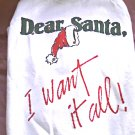 "Retro Xmas ""Dear Santa""-Holidays-Vtg Ugly Sweater Shirt/Sweatshirt/Jumper-Cosby"