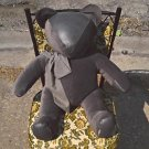 Giant Teddy Bear Collectable Vintage Leather Handmade Doll Ted Plush