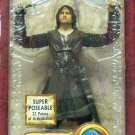 "Super-Poseable Aragorn (Helm's Deep) 2005 Toybiz 6"" Gentle Giant Lord of the Rings LotR Two Towers"