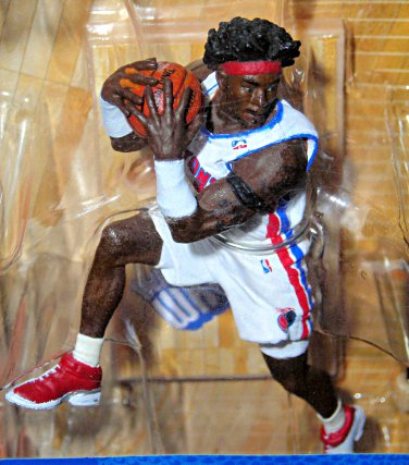 "NBA McFarlane Sports 3"" Mini-Fig (Variant) Ben Wallace Detroit Pistons"