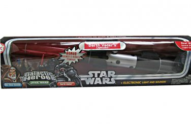 85658 Hasbro Star Wars - Darth Vader Lightsaber (Force FX) electronic toy prop + bonus pack