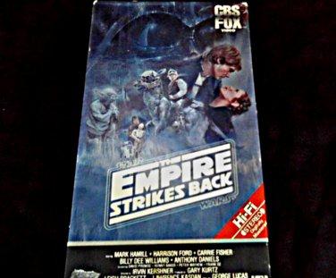 1980 Star Wars Trilogy ESB CBS Fox VHS Original Red Label Video Lucasfilm