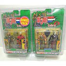 Cobra Claws Commander Grunt Destro Cross Hairs Sniper, Gi Joe 2-Pk Bonus - Hasbro SpyTroops