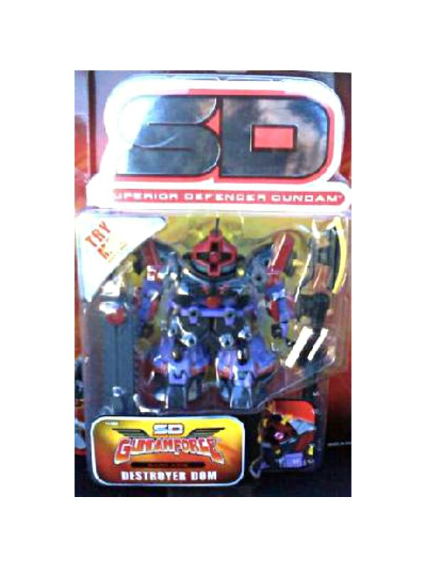"""SD Superior Defender Gundam Force Destroyer Dom, SDX 4.5"""" AF Bandai [null]"""