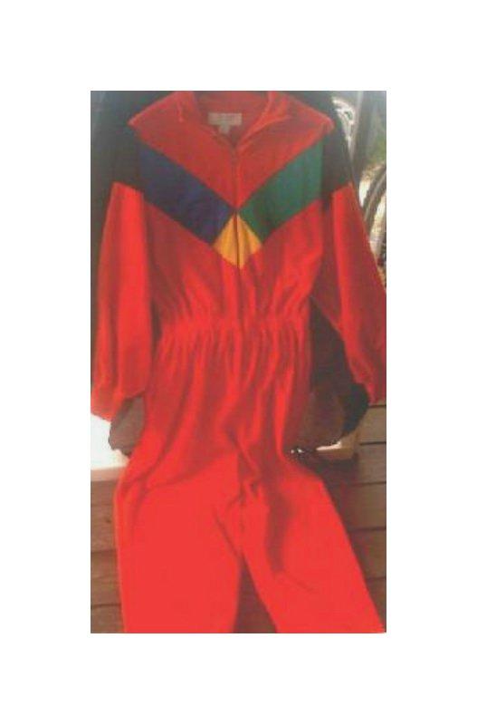 Ski Jumpsuit Vtg 70s 80s Retro Bodysuit Thermal PJ L| Adult Costume - Superhero/Elvis/Clown/Cosplay