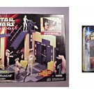 Star Wars Theed Palace Naboo Playset + Darth Maul Figure Lightsaber Duel E1 Tpm 1999 Hasbro