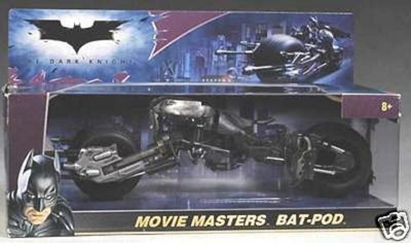 "Mattel N0487 1/12 Batman Dark Knight Batpod Bike 2008 DC movie replica � 6"" scale Batcycle Vehicle"