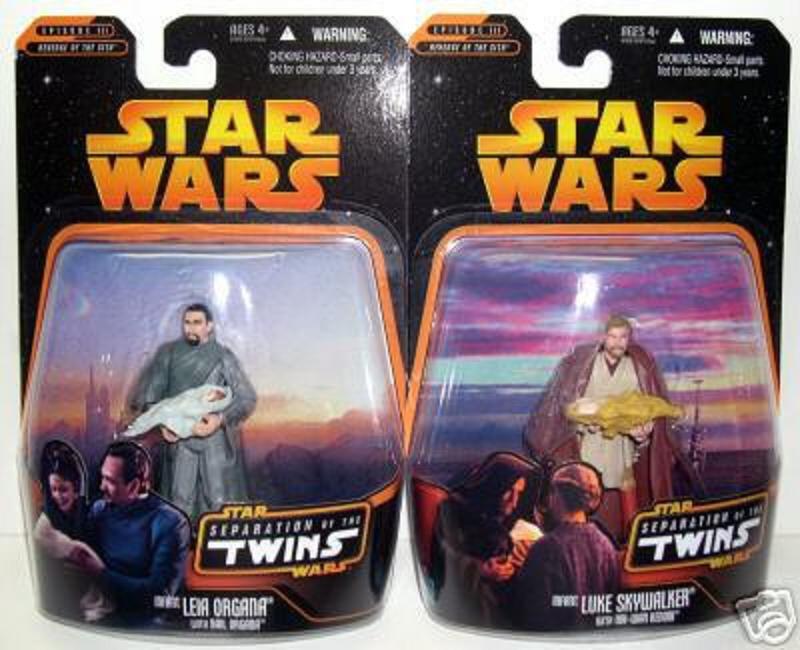 ROTS Separation / Twins Set Infant Luke & Leia Obi-Wan Bail Organa Walmart 2005/'06 Star Wars TSC