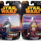 Star Wars Separation/Twins complete set-Infant Luke/Leia-Walmart 2005 Rots| Hasbro Saga TSC