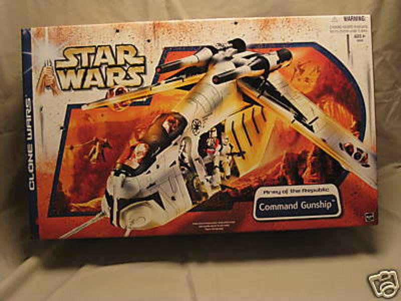 Large Lot Hasbro Star Wars: TCW Clone Republic Gunship Bomber+Action Figure Set (AotC, Saga, RotS)