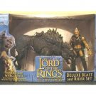"Sharku & Warg Beast Rider Deluxe Figure Set lotr 6"" Toybiz Lord Rings 2003 