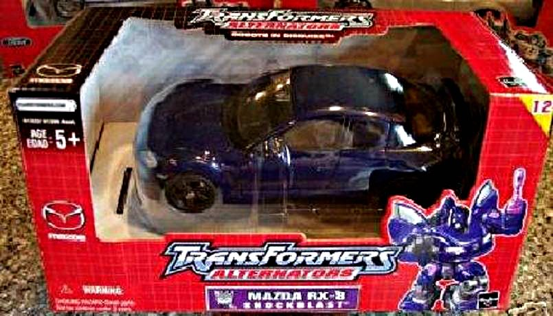 Transformers Alternators: Mazda RX-8 Shockblast (G1 Shockwave) 1:24 Binaltech BT13 MISB 81322 Hasbro