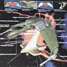 Klingon Bird-of-Prey Model Ship Battle Cruiser, Star Trek TNG/Generations 6174 Playmates 1994