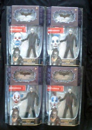 "Batman The Dark Knight Joker Mattel 2008 Gotham Thug Bank Robber 6"" Movie Masters Set Clown Mask"