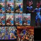 "Marvel Legends Galactus Series 9 baf Complete Set 6"" - Iron Man War Machine Hulk Nightcrawler X-Men"