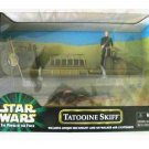 Tatooine Skiff (Olive Variant) with Jedi Luke Skywalker misb Star Wars POTF Kenner Vintage Vehicle