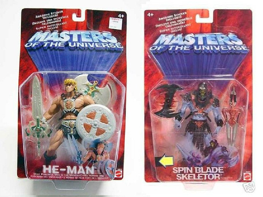 "MOTU Original 2002 He-Man & Skeletor Masters of the Universe 200x Modern Classic 6"" AF Set"