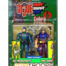 "GI Joe vs Cobra 2003 2-Pack: Halo Jumper (Airborne)+Tele-Viper Hasbro 3.75"" 1:18 Military"