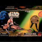 Biker Scout Trooper Speederbike with Jedi Luke No Glove Variant, Vintage Star Wars potf2 misb rotj