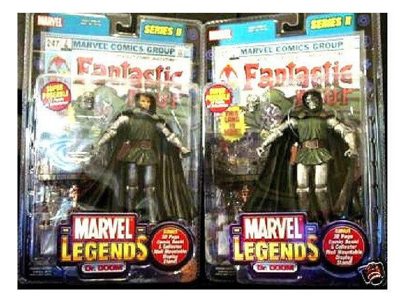 """Marvel Legends: Fantastic Four > Dr. Doom Variant Set Doombot, Series 2 Toybiz 6"""" AF"""
