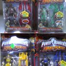 "Bandai Power Rangers Dx lot 4-pc set Turbo Battlized Morpher-Ninja Storm 5"" Action Figures-New"