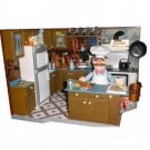 Jim Henson Muppets 25 Years Palisades Toys Deluxe Playset, Swedish Chef Kitchen 2003 Series 3