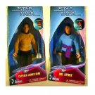 "Classic Kirk & Spock Retro Action Mego Style Figures | Playmates 9"" Star Trek Collector Toys"