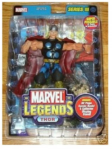 "70159 Thor Marvel Legends 2003 Toybiz Series III (3) (Avengers Classic) 6"" Action Figure"